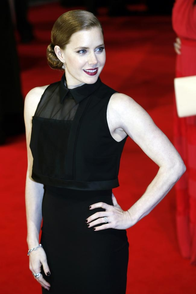 Amy Adams arrives at the BAFTA awards ceremony in London