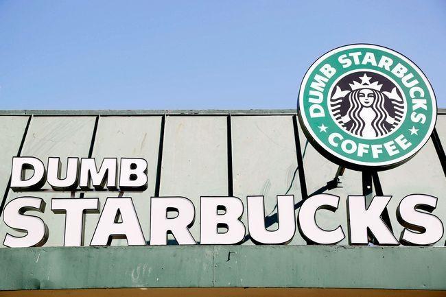 "Mysterious ""Dumb Starbucks"" Coffee Shop Parodies Famed Seattle Chain"
