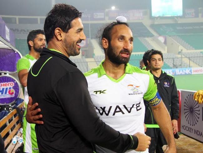 John Abraham with Sardar Singh