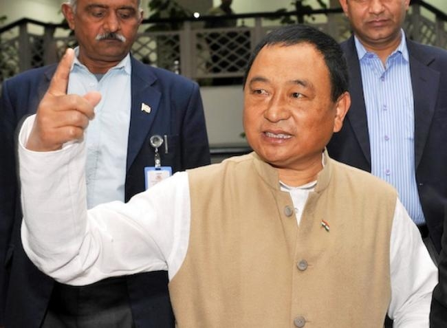 MOS MINORITY AFFAIRS, NINONG ERING COME OUT AFTER MEETING CHIEF MINISTER ARVIND KEJRIWAL