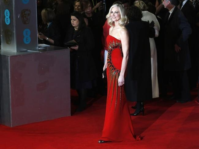 Joely Richardson arrives at the British Academy of Film and Arts (BAFTA) awards ceremony at the Royal Opera House in London