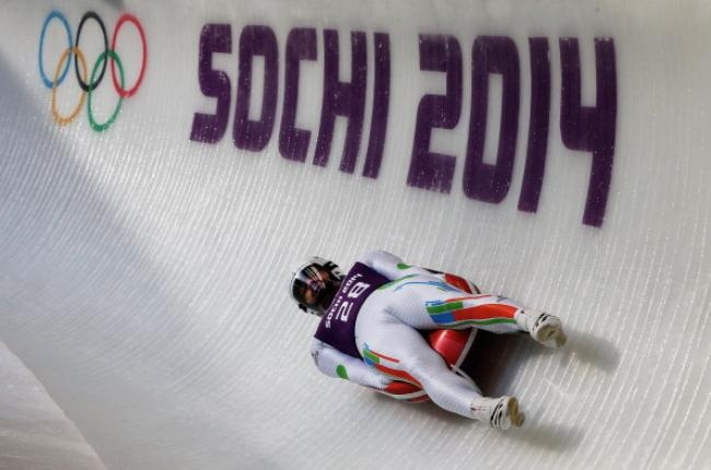 Practice session at 2014 Winter Olympic Games