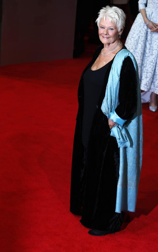 Judi Dench arrives at the British Academy of Film and Arts (BAFTA) awards ceremony at the Royal Opera House in London