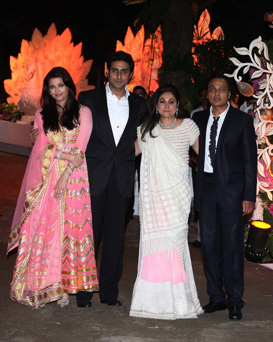 Abhishek Bachchan, wife Aishwarya, Anil Ambani and wife Tina