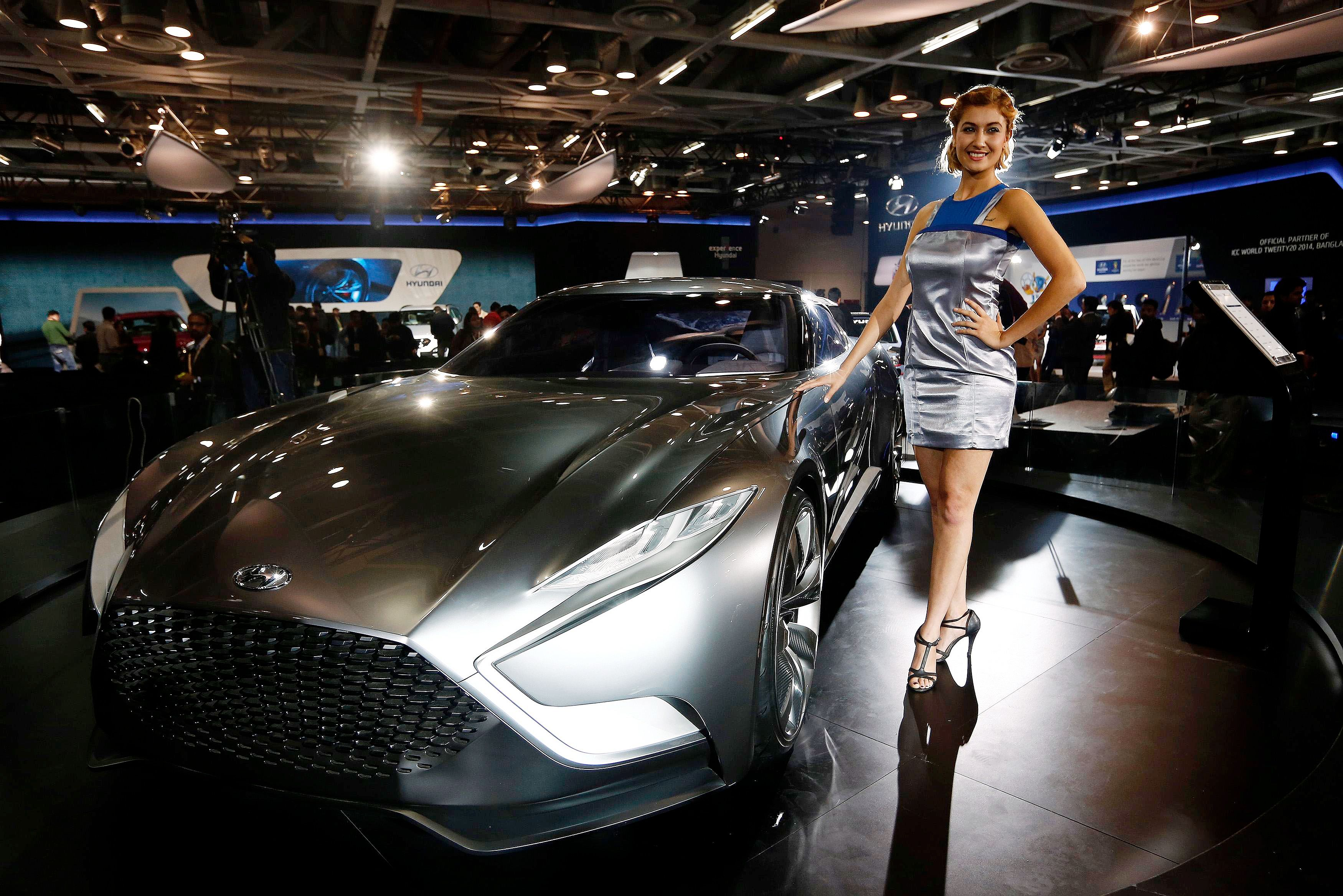 Hot Babes On Hot Wheels At Auto Expo 2014 - Indiatimescom-4475