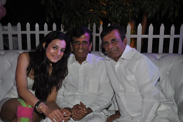 Ameesha Patel with her Race directors Abbas-Mastan