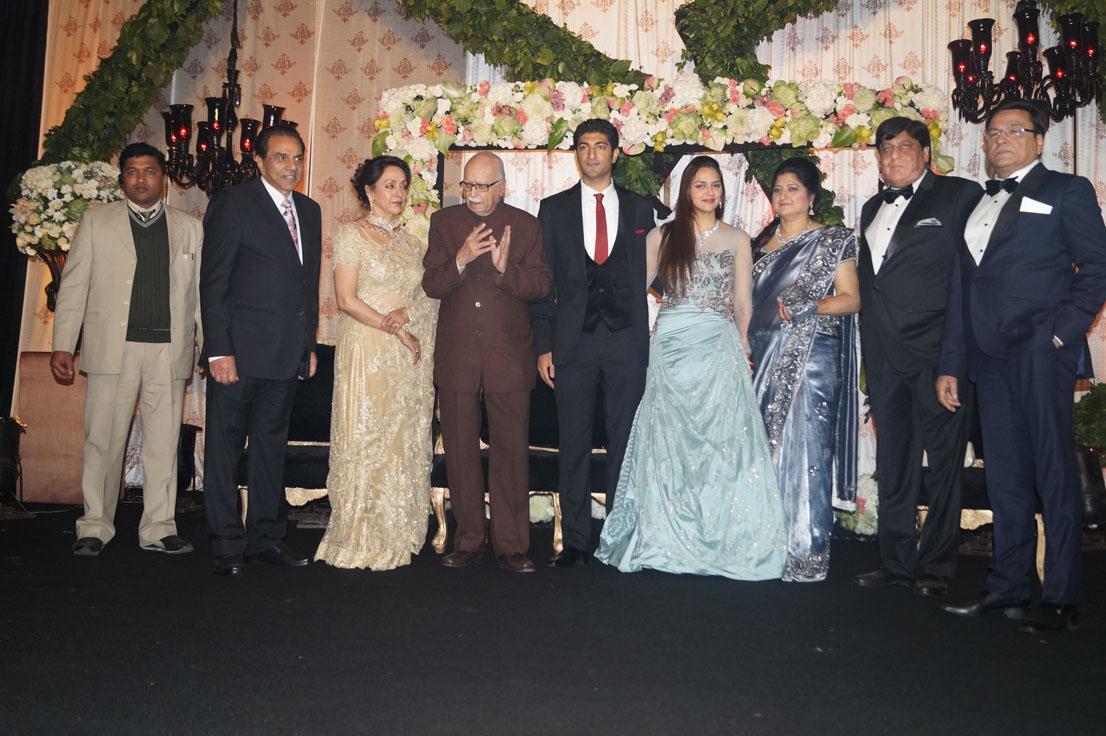 LK Advani at Ahana Deol Delhi wedding reception