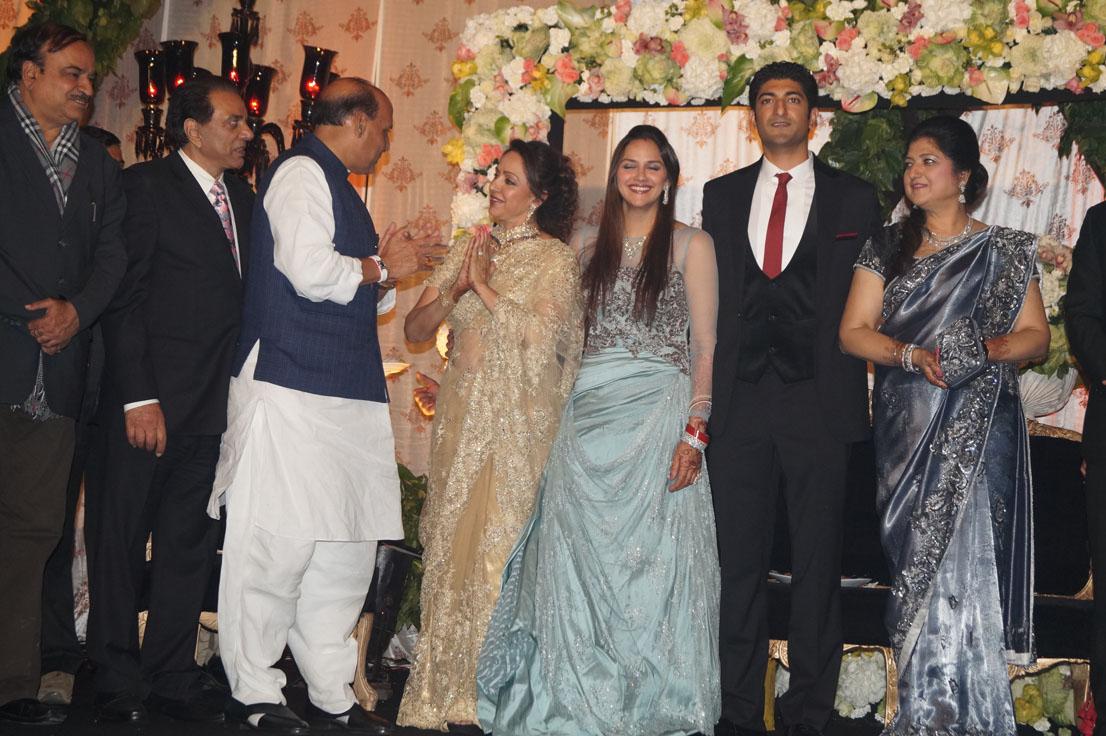 Rajnath Singh at Ahana Deol