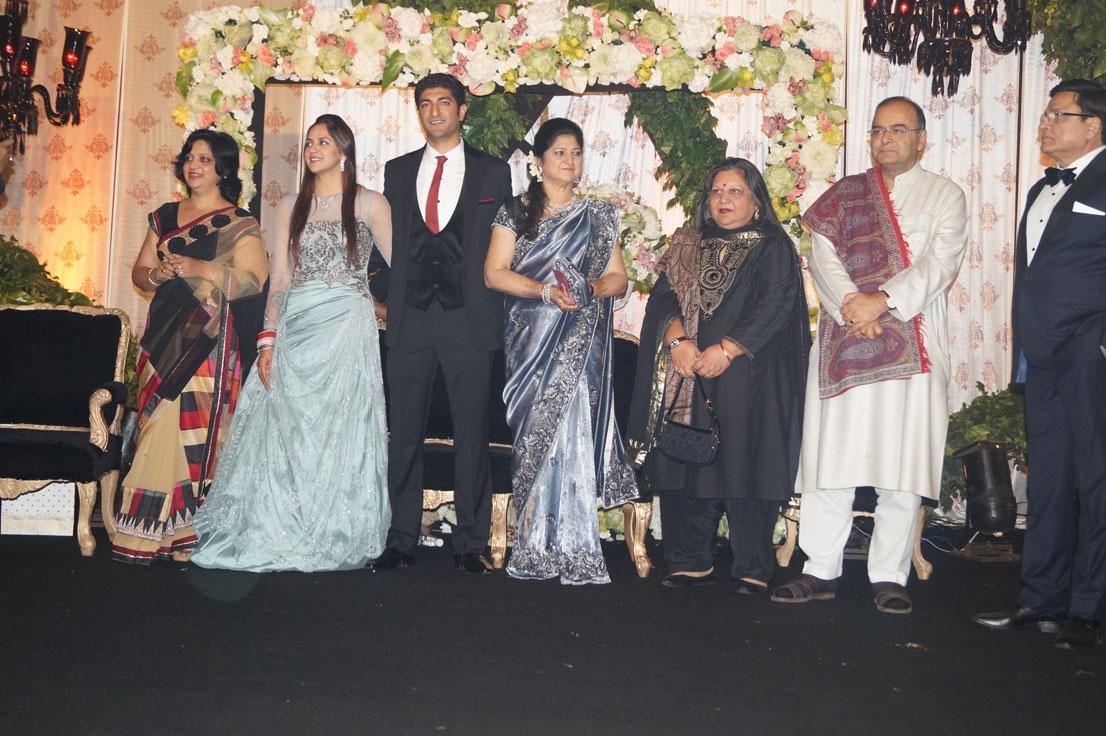 Arun Jaitley at Ahana Deol