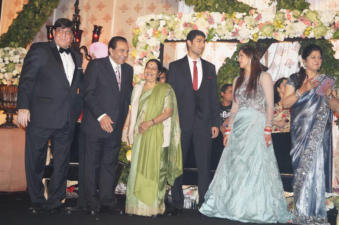 Sushma Swaraj at Ahana Deol