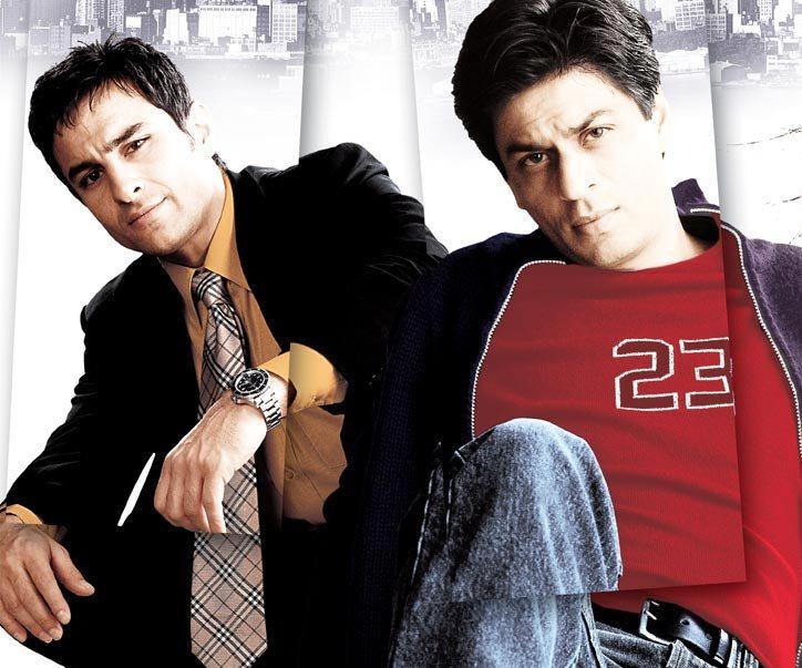 Shah Rukh Khan and Saif Ali Khan in Kal Ho Na Ho