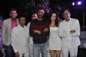 Ameesha posing with Abbas-Mastan and Prabhu Dheva