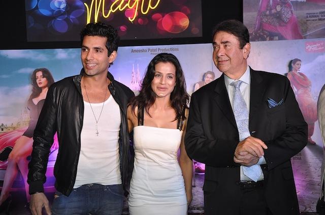 Sahil Shroff and Ameesha Patel with Randhir Kapoor
