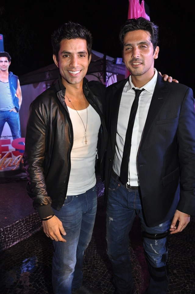 Zayed Khan with his co-actor Sahil Shroff