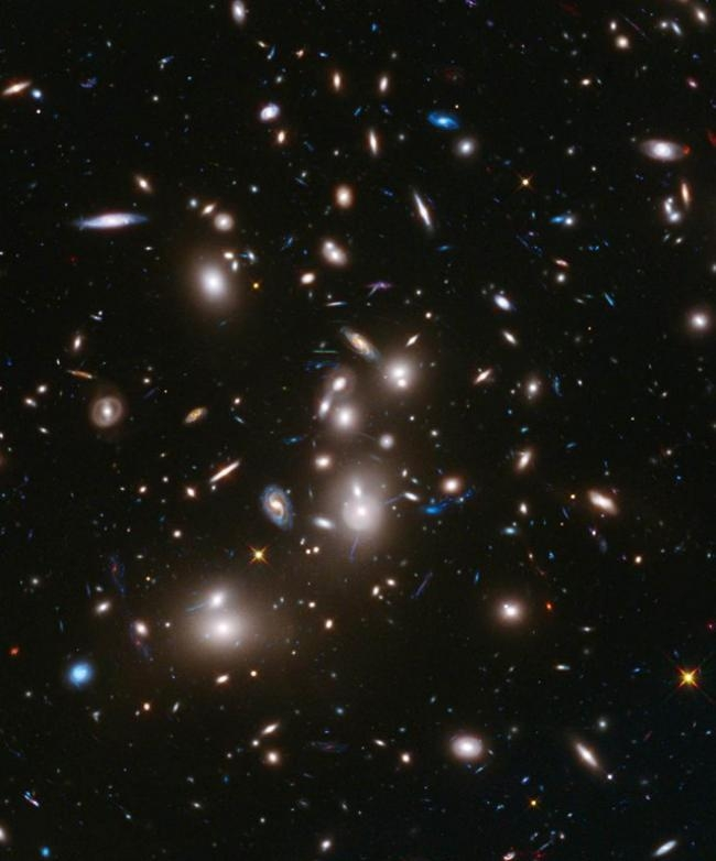 Galaxies in the Abell 2744 cluster