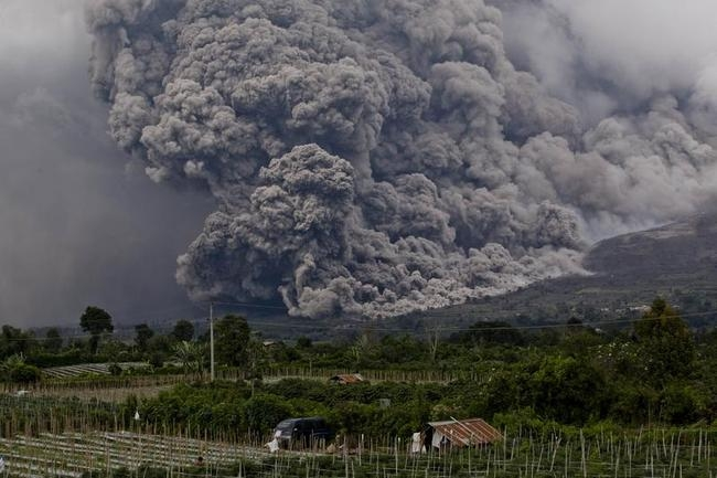 Villagers Evacuated As Mount Sinabung Eruptions Continue