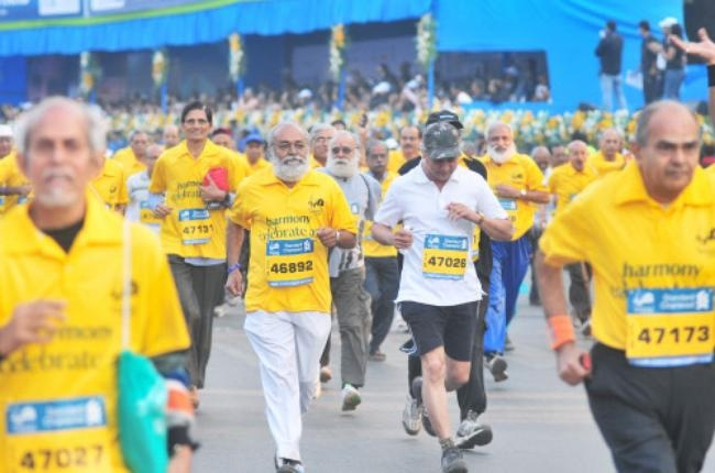 Old people participated in the Marathon