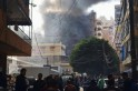 Smoke rises from the site of an explosion in the Haret Hreik area in the southern suburbs of the Lebanese capital Beirut
