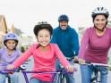 Take your kid bicycling/skating