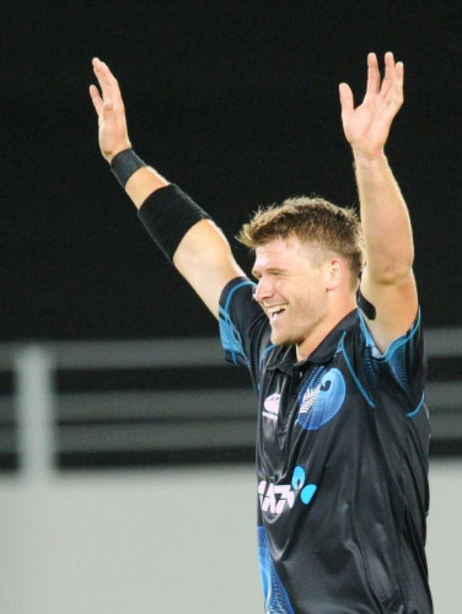 Corey Anderson picked up his maiden ODI five-for