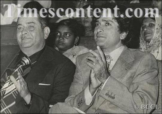 Raj Kapoor and Shashi Kapoor