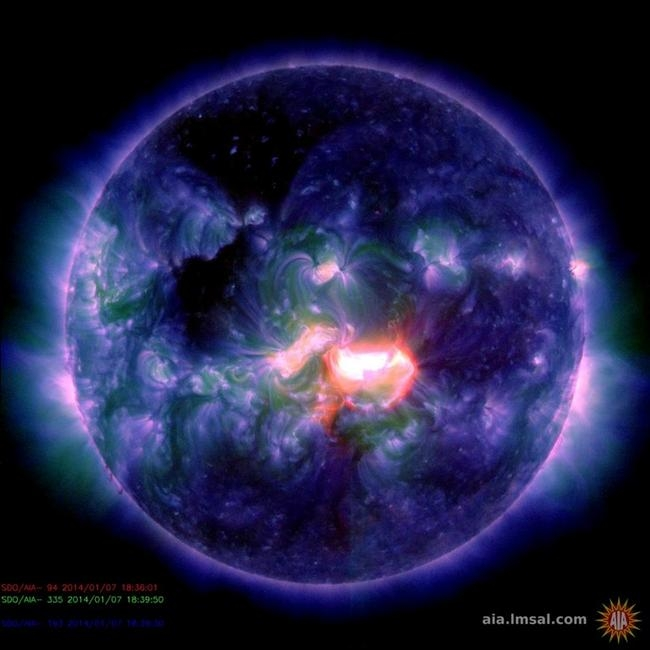 Powerful solar flare