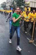 Dia Mirza at Mumbai Marathon 2014