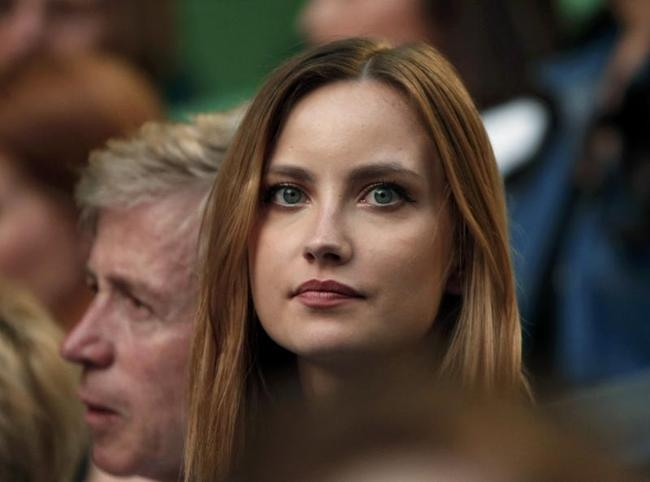 Satorova, girlfriend of Berdych of Czech Republic, looks on during his men