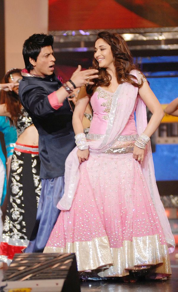 Shah Rukh Khan with Madhuri Dixit