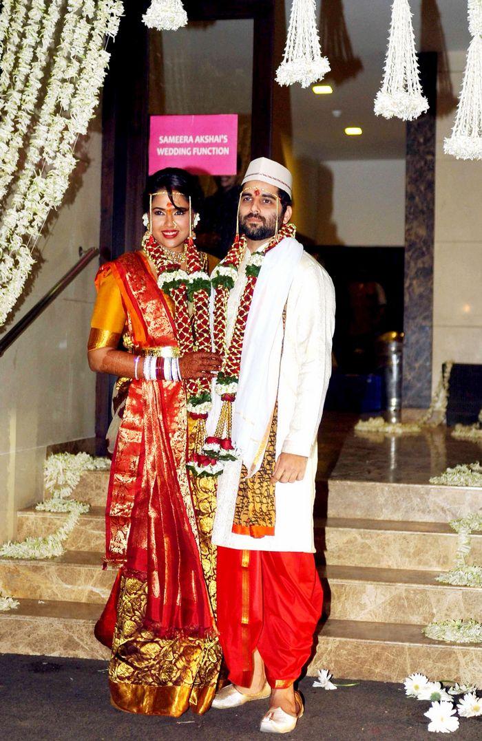 Sameera Reddy and Akshai Varde