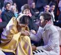 Ranbir Kapoor and Rekha at Filmfare Awards 2014