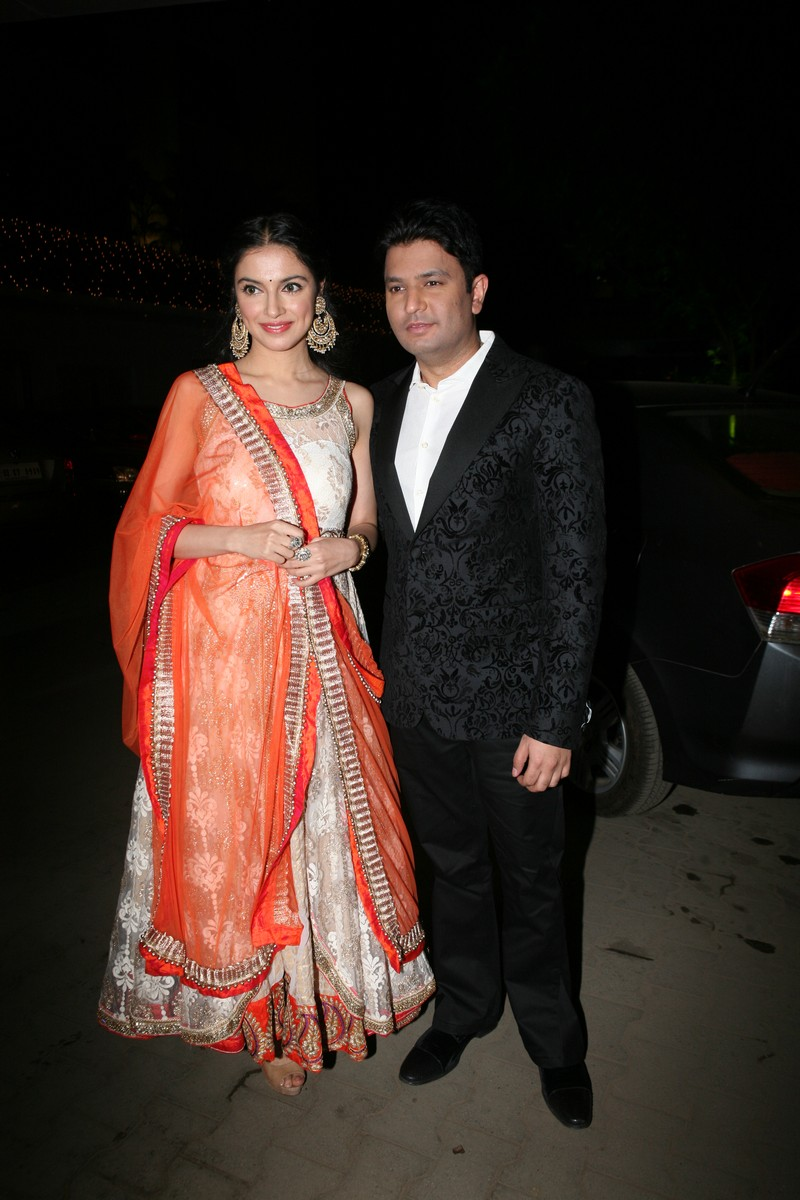 Bhushan Kumar and Divya Kumar at Amita Pathak and Raghav Sachar