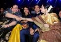 Honey Irani and Rekha at Filmfare Awards 2014
