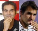 Arbaaz Khan and Roger Federer