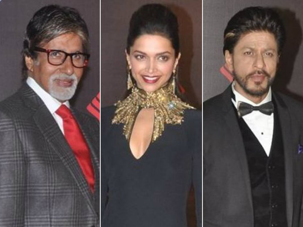 Amitabh Bachchan, Deepika Padukone, Shah Rukh Khan at awards nights.