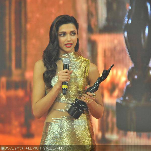 Deepika Padukone won Best Actress for Goliyon Ki Raasleela Ram Leela at the 59th Idea Filmfare Awards in Mumbai at YashRaj Studios