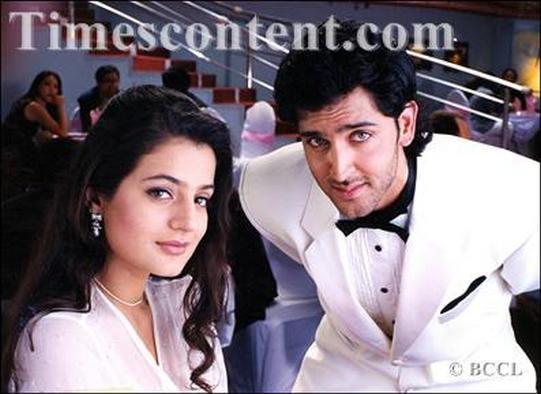 Hrithik Roshan and Ameesha Patel