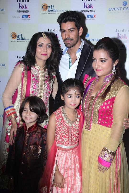 Mansi Kapadia, Kabir, Indian Idol contestants Purvi and Sughandha at Day 2 of India Kids Fashion Week