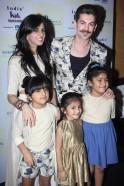 Nishka Lulla and Neil Nitin Mukesh with children at Day 2 of India Kids Fashion Week