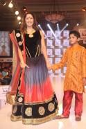 Sangeeta Ghosh walks the ramp at Day 2 of India Kids Fashion Week