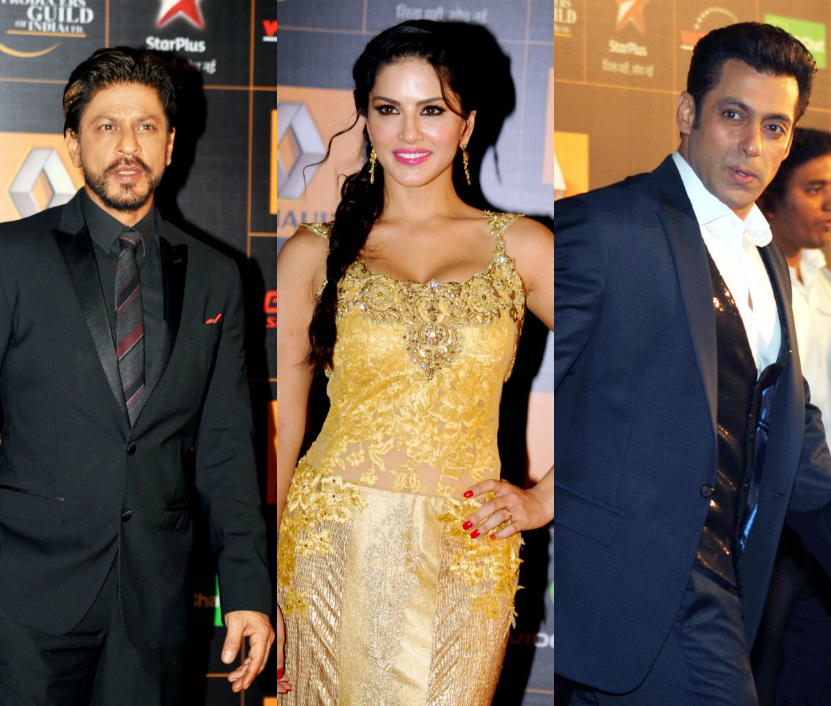 Shah Rukh Khan, Salman Khan, Sunny Leone