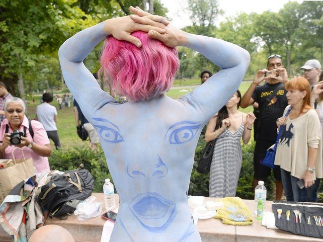 US-ARTS-BODY-PAINTING