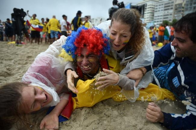 Beach Fun During FIFA World Cup