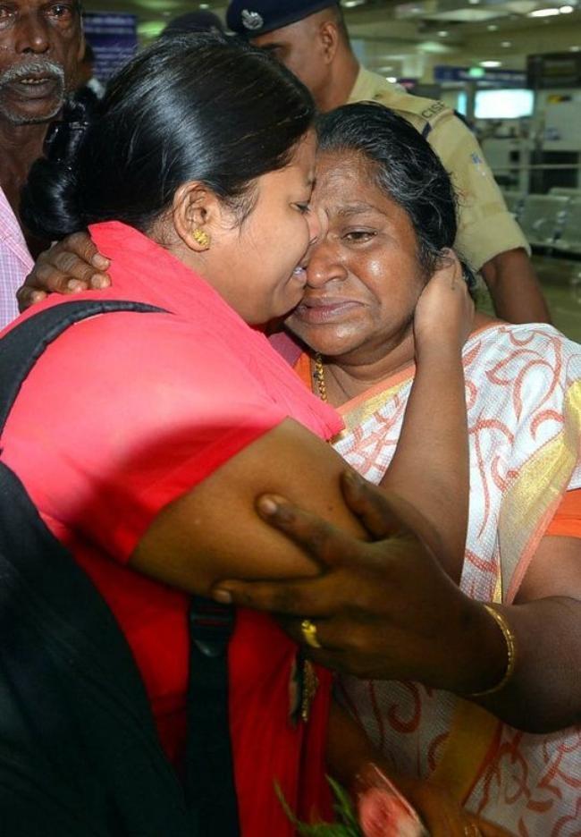 Indian Nurses Return Home