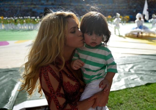 Shakira and her son Milan
