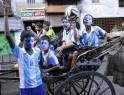 Indian Fans Enjoy FIFA Soccer World Cup
