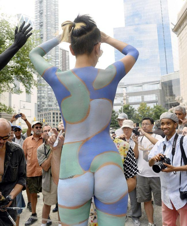 Naked Body Painting in New York City