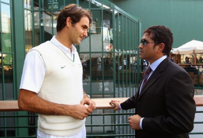 Roger Federer and Sachin Tendulkar