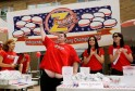 Sean Nichols is introduced at sixth annual Independence Burger Eating Contest at Z-Burger in Washington
