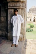 Sourav Ganguly, Indian Cricket Player standing at a Monument in New Delhi ( Sports, Profile )